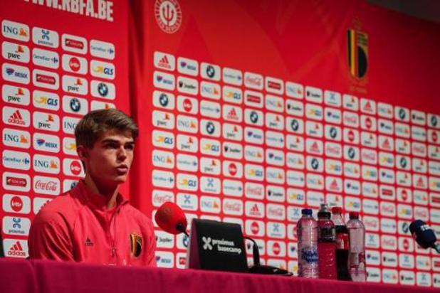 """L'équipe nationale, """"un rêve qui se réalise"""" pour Charles De Ketelaere"""