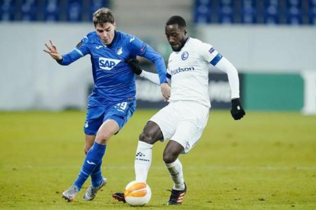 Europa League - AA Gent moet bij Hoffenheim kelk tot op bodem ledigen en blijft Europees puntenloos