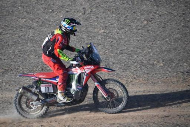 Dakar : Barreda remporte la 4e étape en catégorie moto, de Soultrait en tête du général