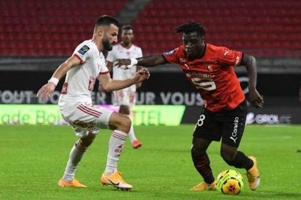 Les Belges à l'étranger - Rennes s'impose difficilement contre Brest, Jérémy Doku titulaire