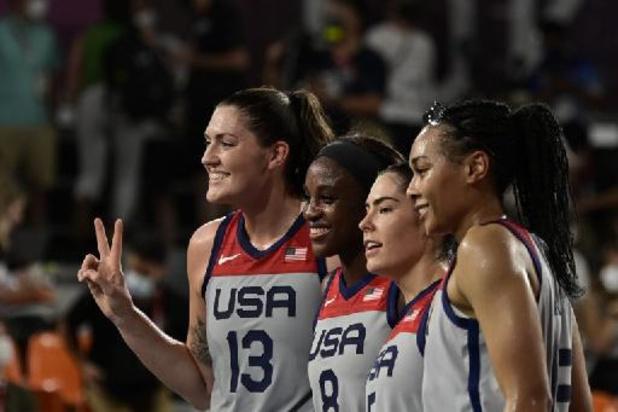 Amerikaanse basketvrouwen veroveren eerste olympische titel in 3x3