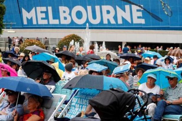 Open d'Australie: la pluie perturbe la première journée, les matches de Van Uytvanck et Minnen reportés