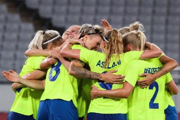 Zweedse voetbalvrouwen verrassen wereldkampioen VS