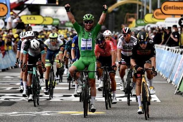 Mark Cavendish blijft voor derde Tour-ritzege Wout van Aert en Jasper Philipsen voor