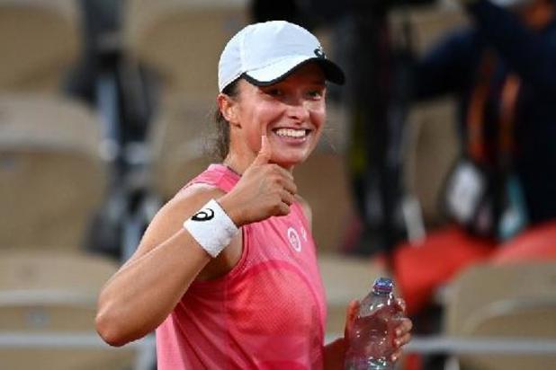 Roland-Garros - Iga Swiatek, tenante du titre, rejoint les quarts de finale sans perdre un set