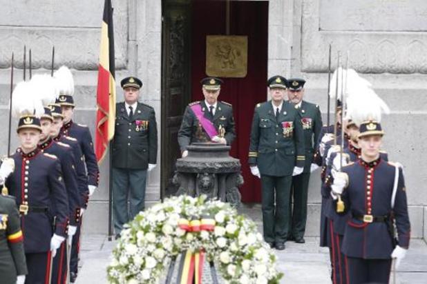 Le roi Philippe commémore l'Armistice à la Colonne du Congrès à Bruxelles