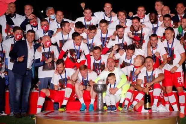 Cinq joueurs de l'Etoile Rouge, le champion de Serbie, testés positifs au Covid-19