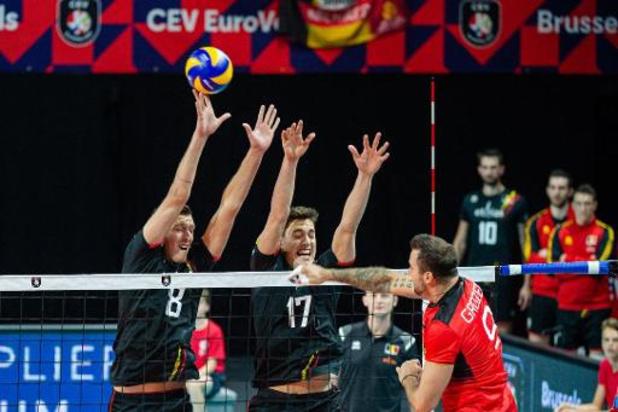 EK volley (m) - Tomas Rousseaux ziet Red Dragons op karakter winnen van Duitsers