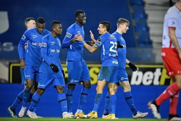 Jupiler Pro League - Genk s'impose 3-2 contre Zulte Waregem après quelques frayeurs en fin de match