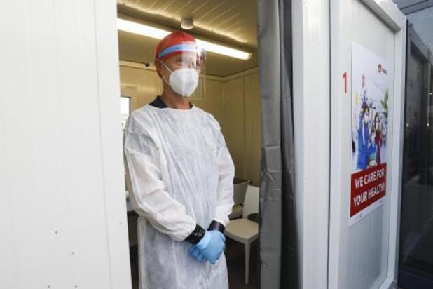 En moyenne 235 tests sont effectués par jour au centre de dépistage de Brussels Airport