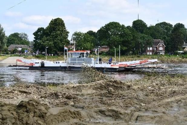 Autoveerpont in Maas tussen Meeswijk en Berg lange tijd buiten dienst