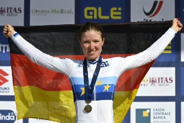 EK wielrennen - Duitse Riedmann wint wegrit bij juniores