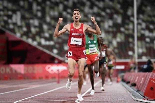 Soufiane El Bakkali offre une médaille d'or au Maroc sur 3.000m steeple