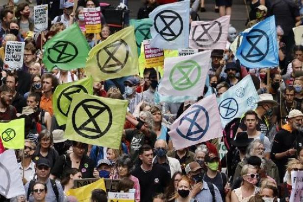 Le mouvement écologiste Extinction Rebellion manifeste contre la City de Londres