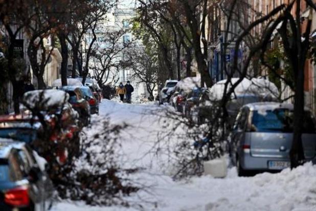 Madrid schat schade door sneeuwstorm op 1,4 miljard euro