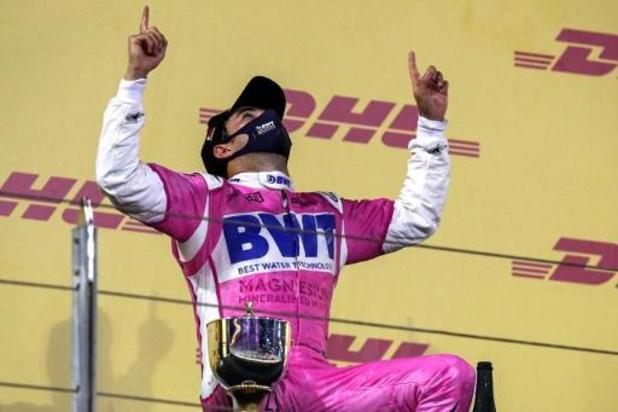 """F1 - GP van Sakhir - Sergio Perez geniet van eerste F1-zege: """"Dit is ongelooflijk"""""""