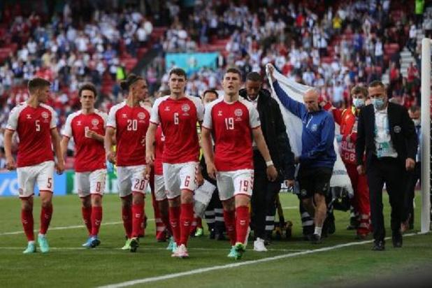 Les joueurs danois joueront pour Christian Eriksen contre la Belgique