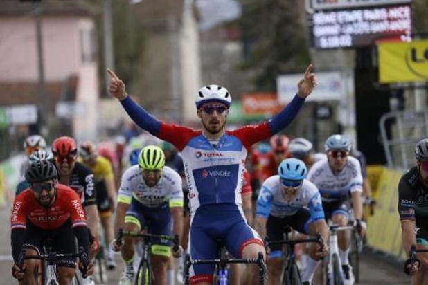 Niccolo Bonifazio s'adjuge la 5e étape au sprint, Schachmann reste en jaune