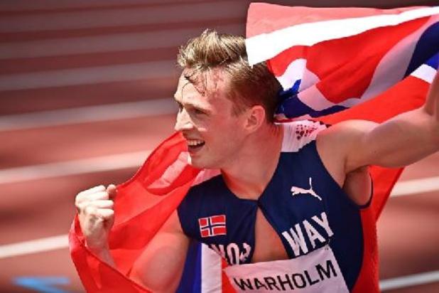 OS 2020 - Noor Karsten Warholm wint 400 m horden in wereldrecord