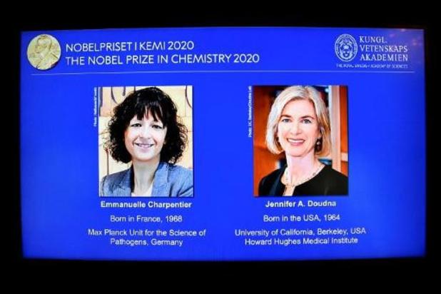 Charpentier en Doudna winnen Nobelprijs voor methode om genetisch materiaal te wijzigen
