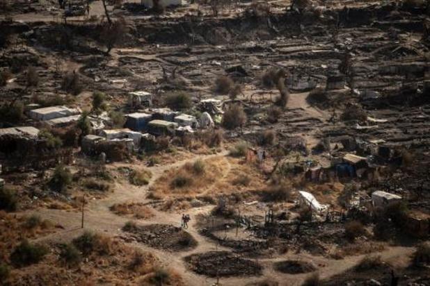 Afgebrand Grieks vluchtelingenkamp Moria tegen september vervangen door vaste accomodatie