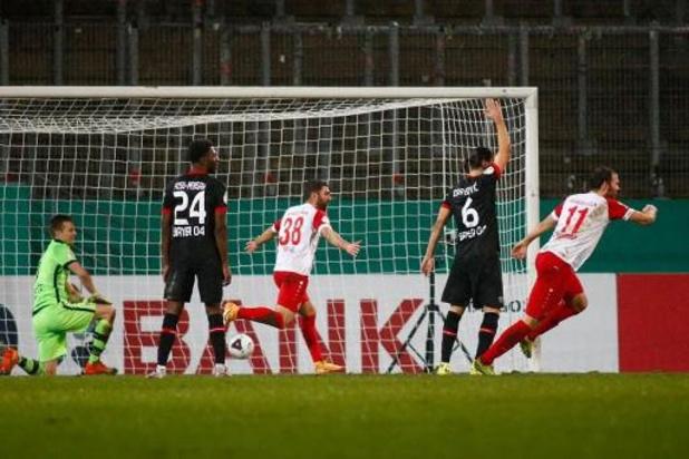 DFB Pokal - Leverkusen laat zich in Duitse beker verrassen door vierdeklasser