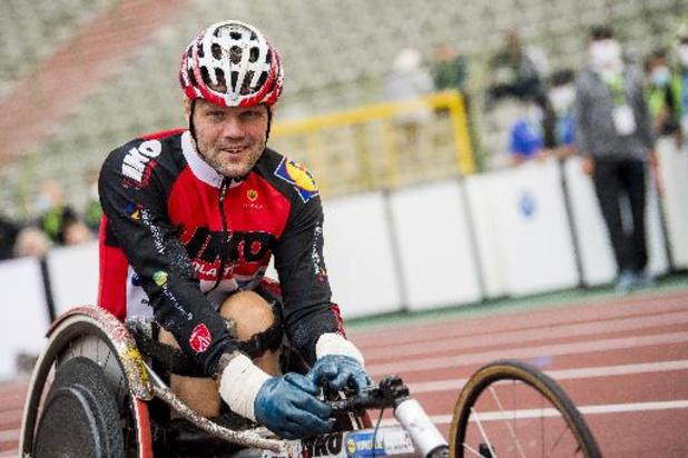 Peter Genyn behaalt zilver op 100m rolstoelsprint