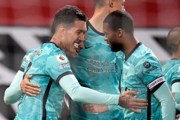 Premier League - Liverpool wint spektakelrijk inhaalduel bij Manchester United