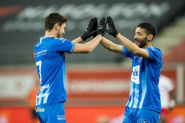 Jupiler Pro League - La Gantoise domine Mouscron avec un triplé de Yaremchuk