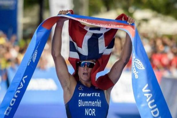 Le Norvégien Blummenfelt améliore son record du monde et bat trois légendes à Bahrein