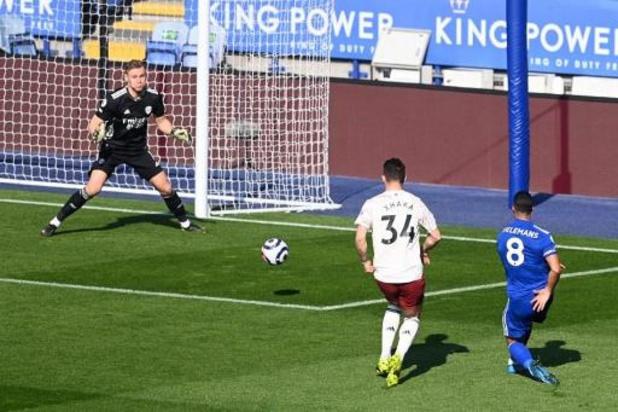 Leicester battu par Arsenal malgré un but de Tielemans