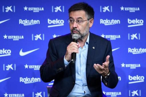 La Liga - Le président du FC Barcelone Josep Maria Bartomeu présente sa démission