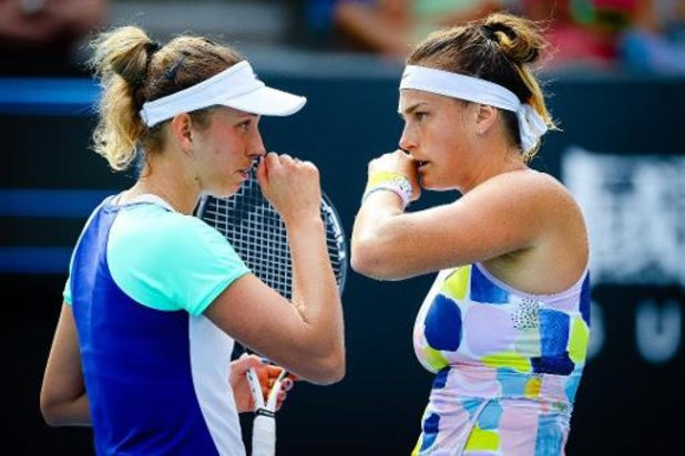 Australian Open - Elise Mertens en Aryna Sabalenka gaan er in kwartfinales uit
