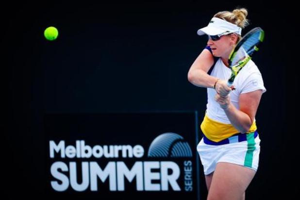 Australian Open - Ysaline Bonaventure uitgeschakeld in eerste ronde