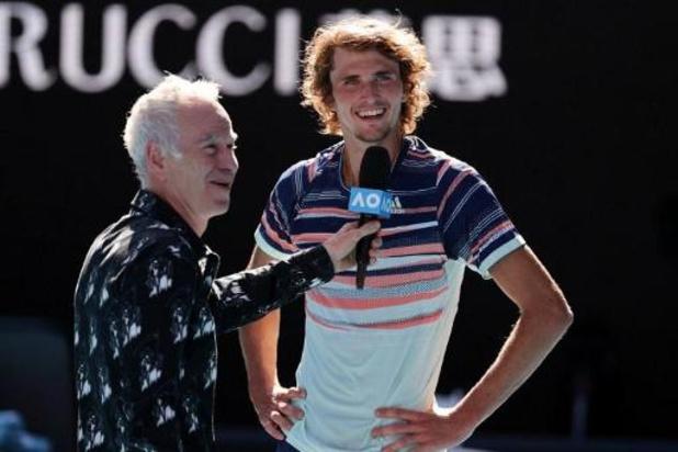 """""""Enfin les demi-finales"""", s'exclame Zverev après sa victoire contre Stan Wawrinka en quart à l'Open d'Australie"""