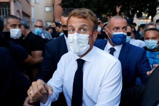 """Macron à Marseille: """"On ne lâchera rien"""" contre le trafic de drogue"""