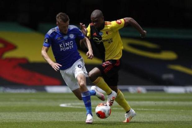 Leicester raakt niet voorbij Watford