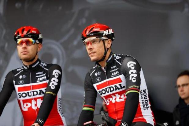 Cinq Belges, dont Philippe Gilbert, dans la sélection de Lotto Soudal pour le Tour