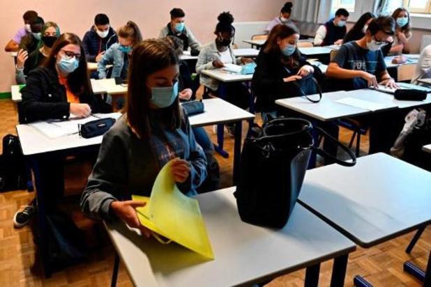 École: l'ONE signale une forte hausse des cas de covid dans les écoles
