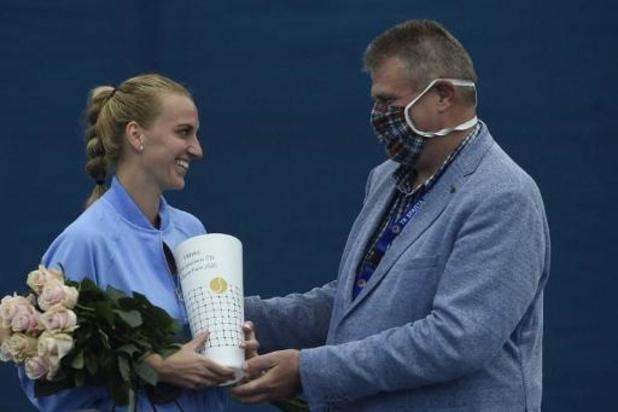 Petra Kvitova is de beste op coronatoernooi in Praag