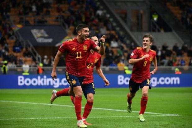 Nations League - Spanje troeft Italië af en is mogelijke tegenstander van Rode Duivels in finale