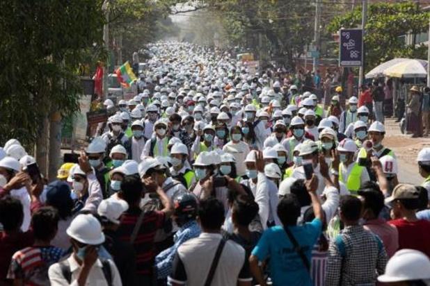 Veiligheidsdiensten Myanmar slaan weer protest neer