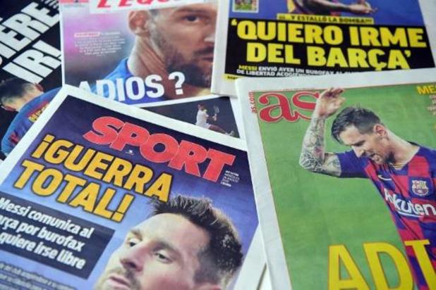 Messi wil niet meer meetrainen bij FC Barcelona
