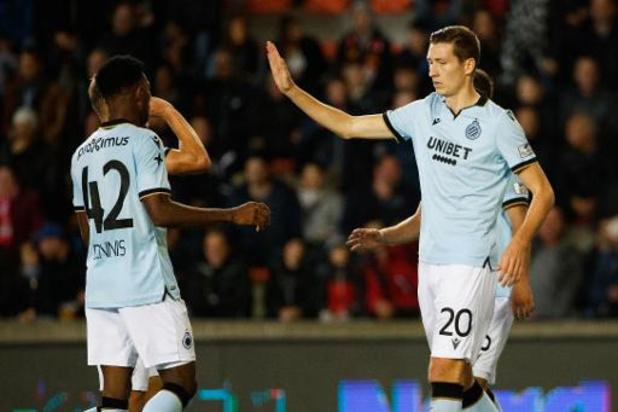 Jupiler Pro League - Le Club de Bruges inflige à Mouscron sa première défaite de la saison à domicile