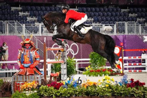 La Belgique, médaillée de bronze du concours de saut d'obstacles en équitation