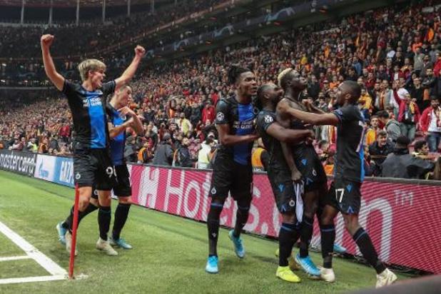 Ligue des Champions - Bruges conserve sa troisième place après son partage arraché en fin de match à Galatasaray