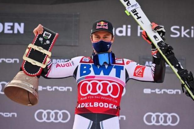 WB alpijnse ski: Alexis Pinturault wint ook tweede reuzenslalom in Adelboden