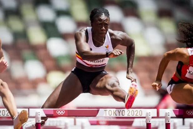 Anne Zagré strandt in halve finales 100m horden