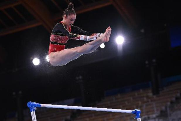 OS 2020: Nina Derwael plaatst zich met topscore voor brugfinale