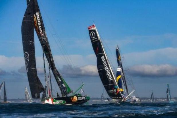 Trente trois concurrents ont pris le départ du 9e Vendée Globe aux Sables d'Olonne